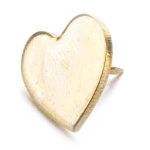 Heart Golden Thumbtack