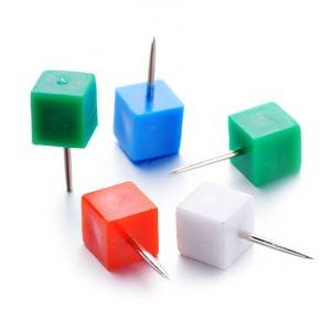 High reputation Manufacturing Metal Paper Clips - Square Shape Push Pins – Aiven