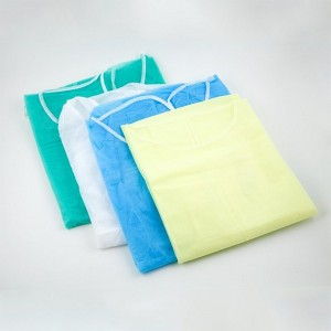 Disposable Isolation Gown Size Universal Qty 50 per Case (Blue)