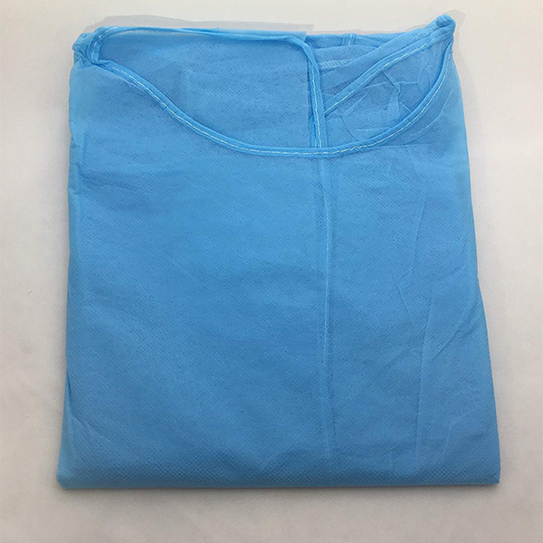 Health Disposable Isolation Gown 28g, Spun-Bonded Polypropylene, Blue, 10 Piece Pack