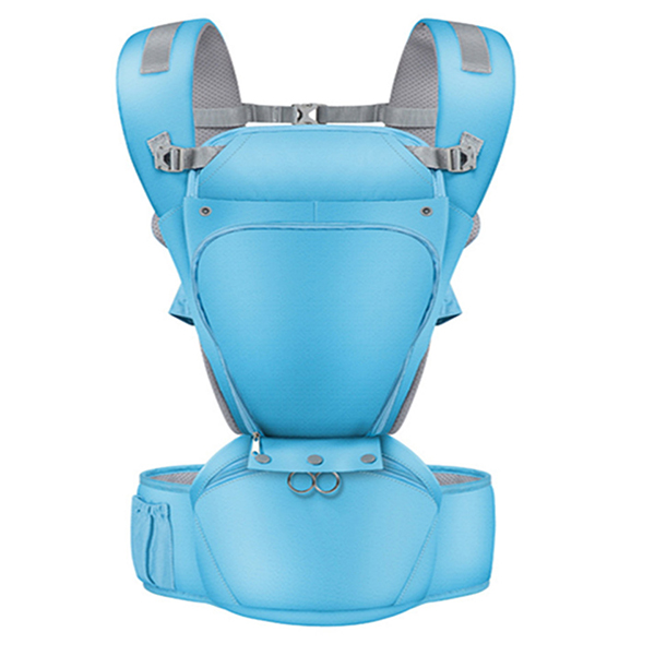 Baby Wrap Carrier with Hip Seat, Windproof Cap,6 and 1 Convertible Backpack, Cotton Sling for Infants, Babies and Toddlers
