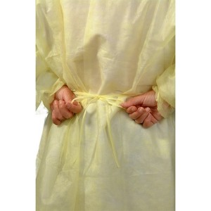 Excellent quality Operation Plastic Gown - Disposable Isolation Gown Fluid Resistant – Full Back, Yellow (Case of 50) – Akso