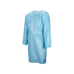 Disposable Isolasi gown Ukuran Universal Qty 50 per Kasus (Blue)