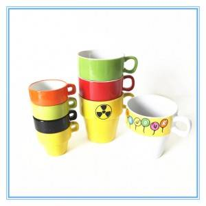wholesale glazed stoneware collapsible coffee mug with lower price