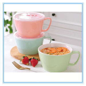 Hot Sale Cute and Colorful Glazed Stoneware Large Capacity Soup Mug At Lower Price