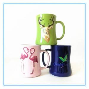 Colorful Collect Waist Cup Decal Style Art Stoneware Mug 3D Embossed Mug