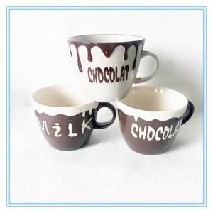 Creative Oversize Milk Cups And Chocolate Cups Embossed Stoneware Mugs