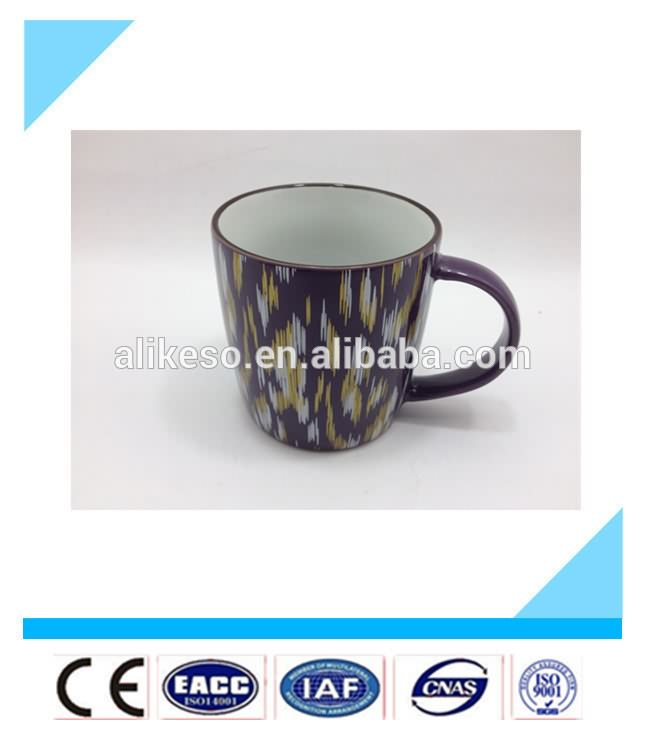 2016 New product cheap stoneware bulk ceramic coffee/cappuccino mug with handle as festival gift
