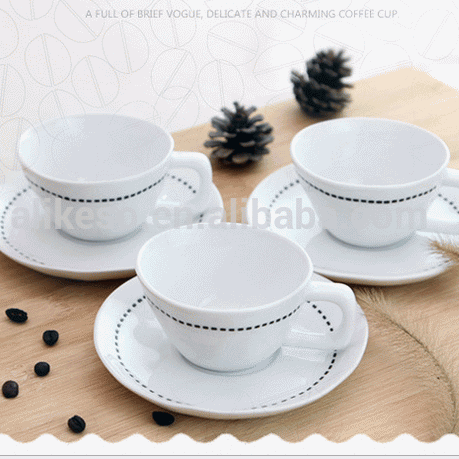 Concentrated small capacity coffee cups and saucers suit creative cafe ceramic cup