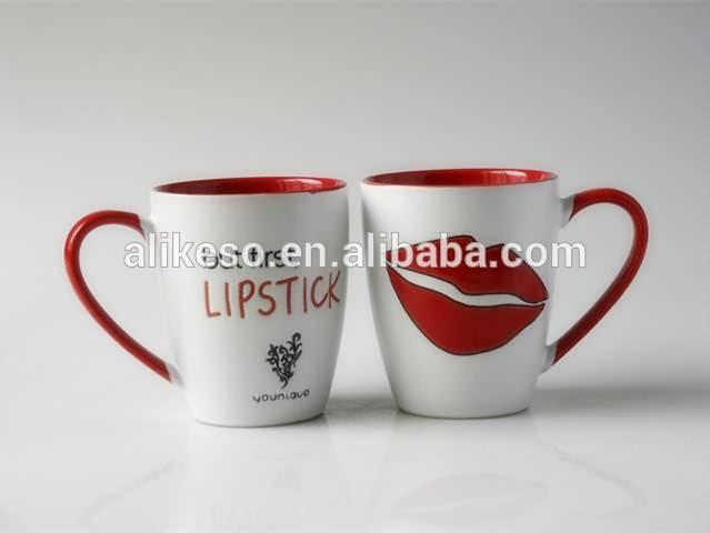 Wholesale Price China Animal Shaped Coffee Mug Two Tone Beautiful Design Cheap Coffee Mugs With Handle Alikeso Factory And Manufacturers Alikeso