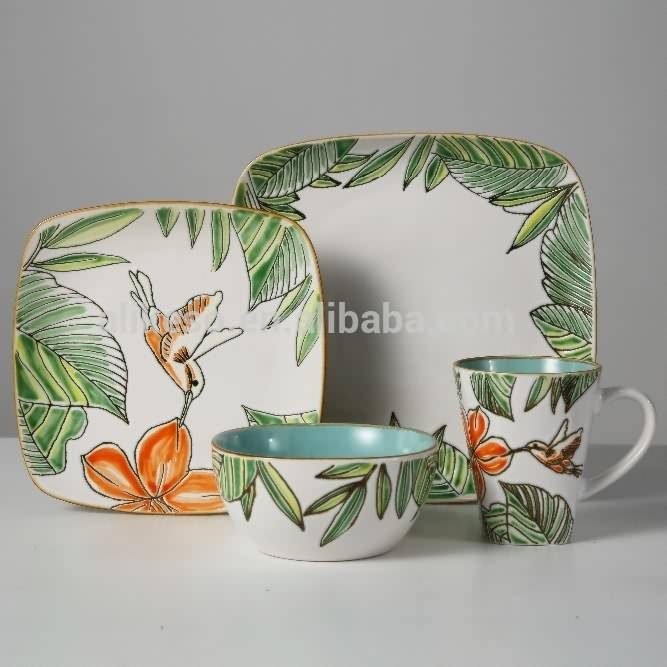 Hand-painted flower pattern design dinnerware sets