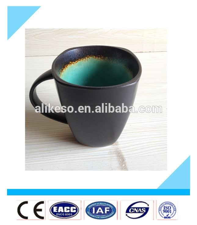 Special design reasonable price 14oz ceramic soup mugs with handle