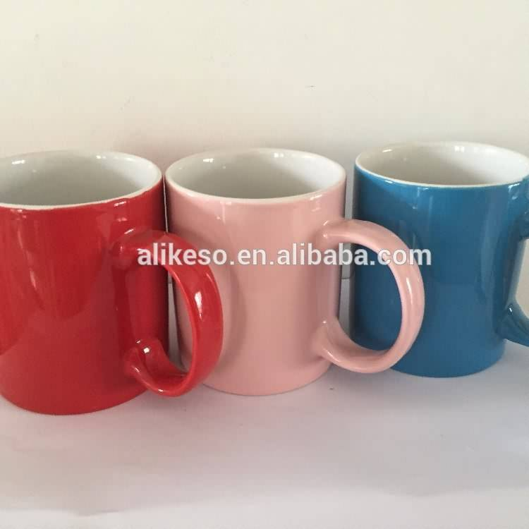Cheap bulk ceramic cups with all kinds of colors manufacturer china ceramic mug with handle