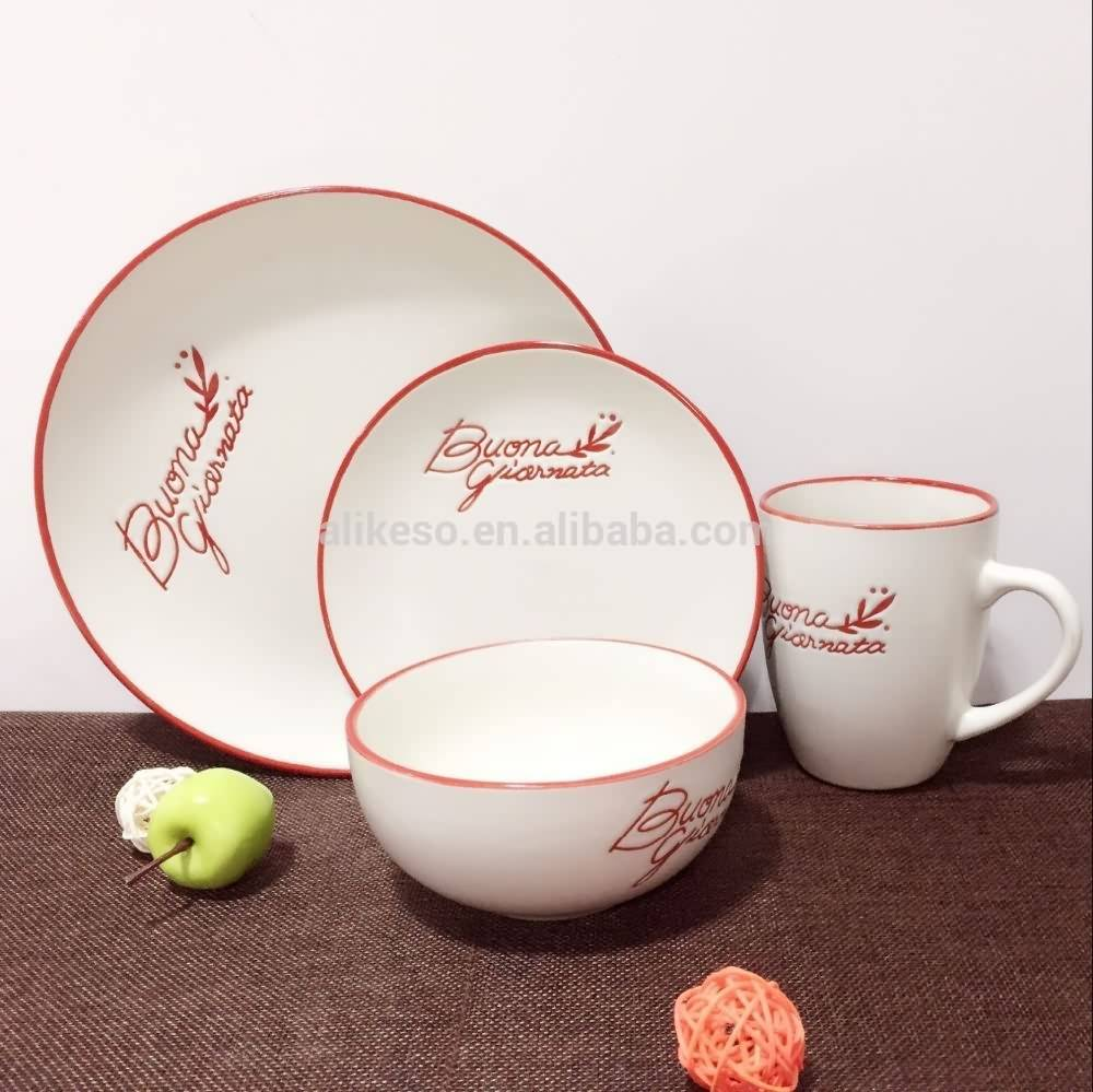 cheap stock new design stoneware ceramic living art dinner set