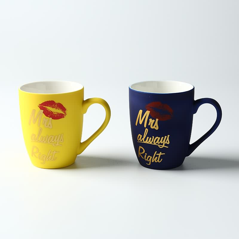 Wholesale high quality soft touch glazed ceramic coffee mug