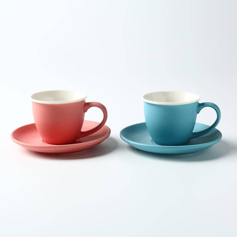 Small Capacity White Porcelain Espresso Coffee Cups Creative Concentrated Shop Cafe Tea Sets Featured Image