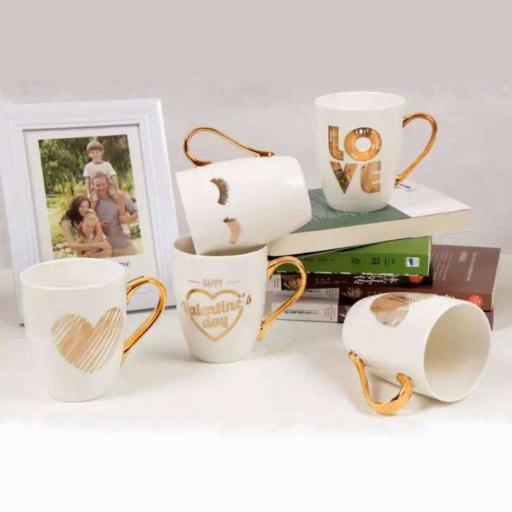Hot sale golden handle ceramic mug Featured Image