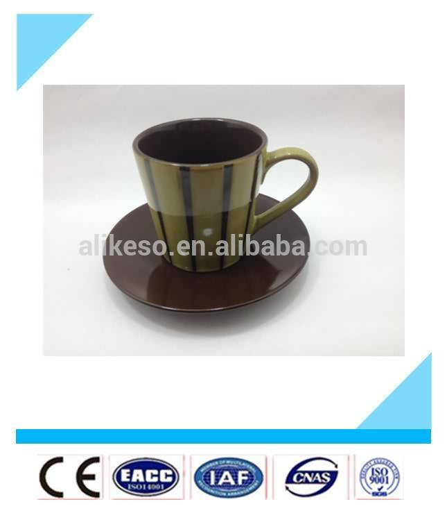 wholesale high quality ceramic espresso mug and saucer