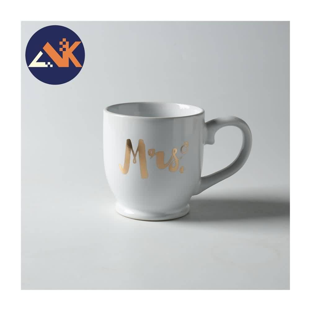 Luxury Fine Gold Custom Logo  Ceramic Coffee Mug