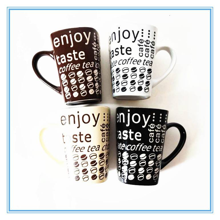 China Factory Directly Sale Whole Silkscreen Printing Square Stoneware Mug Featured Image