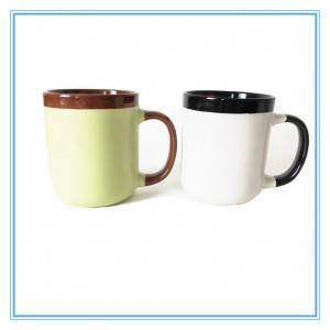 2019 Newly Two Colors Large Capacity Sublimation Ceramic Glazed Mug