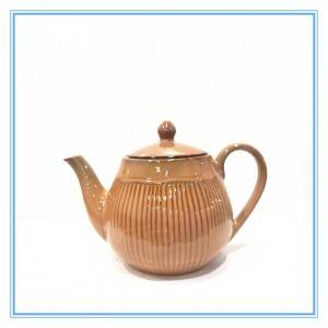 2019 Manufacture New Product Reactive Glaze Stoneware Tea Cup Set