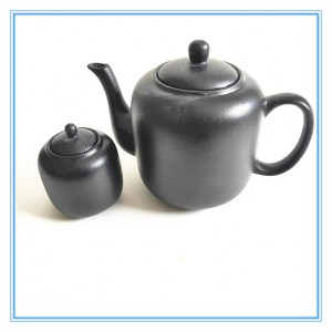 A Set Stoneware Tea Pot With 16 pieces Classical Black Tea Pot Set