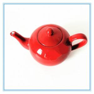 Festival Chinese red series teapots ceramic stoneware teapot