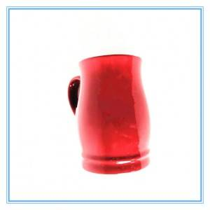 Red Stoneware Irregular Shape Mug Glazed Mugs