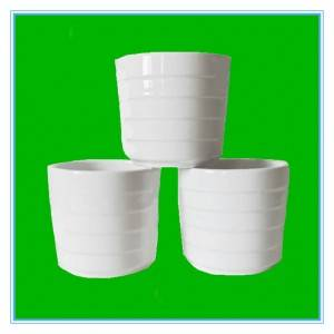 Chinese manufacturers directly sell white ceramic cups with horizontal stripes