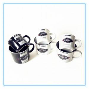 Porcelain coffee decal stoneware mug ceramic enamel camping mug