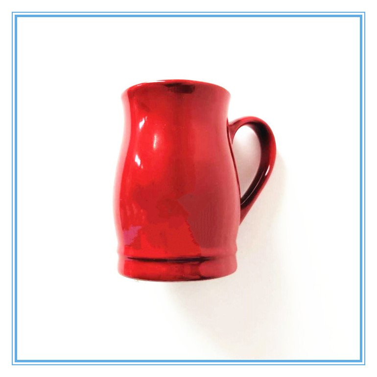 Red Stoneware Irregular Shape Mug Glazed Mugs Featured Image
