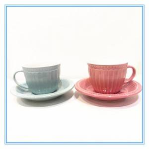 Factory Directly Sale Stoneware Tea Cup Set/Cup and Saucer