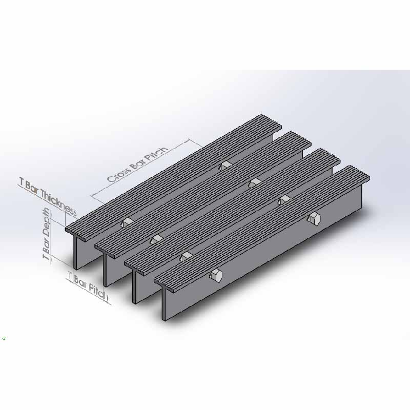Massive Selection for Air Intake Louver - T-bar grating – Tongda detail pictures