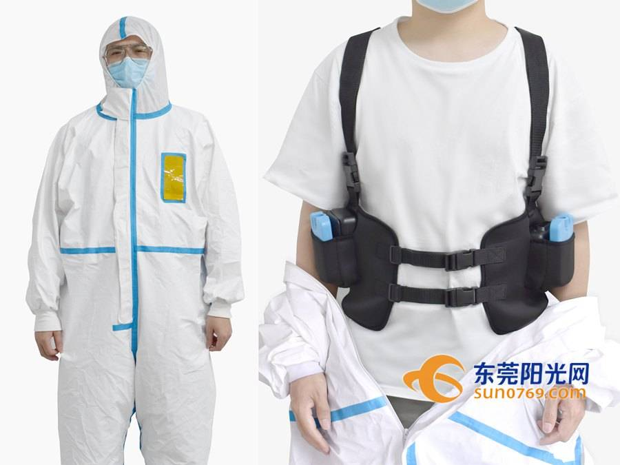 How can this vest cool your protective clothing?
