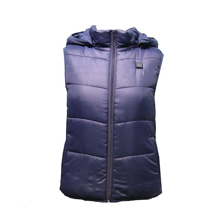 Battery USB Waterproof Womens Heated Vest Winter With Hood