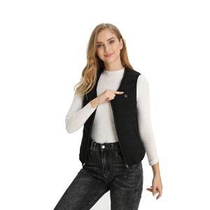 Warming Black Heated Vest With Battery For Women