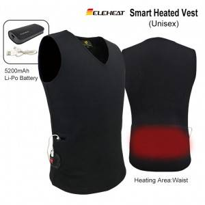 EH-V-107 ELEHEAT Akumulatora Powered 5V Apsildāma Vest
