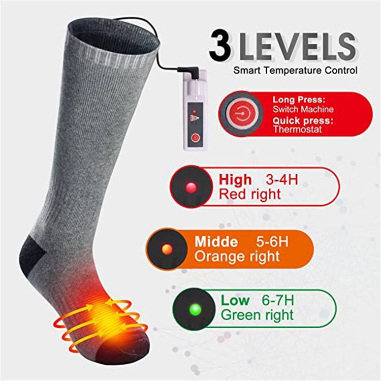 Battery heated socks