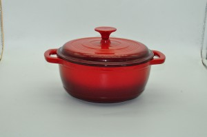 Enameled Cast Iron Casserole Ceramic Coating Pot Enameled Cast Iron Wok