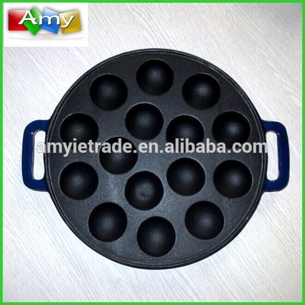 Enamel Cast Iron Cake Baking Pan, Cast Iron Takoyaki Pan