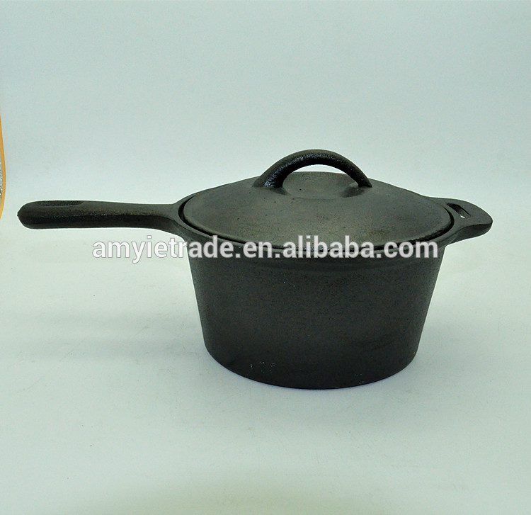 cast iron cookware, 3QT cast iron saucepan
