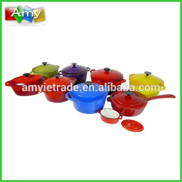 Different Colors& Types Enamel Cast Iron Cookware
