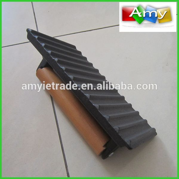 Wood Handle Cast Iron Grill Press