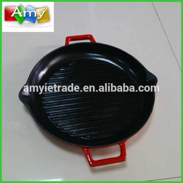 Korean Grill Pan, Korea BBQ Grill Pan, Cast Iron Steak Pan
