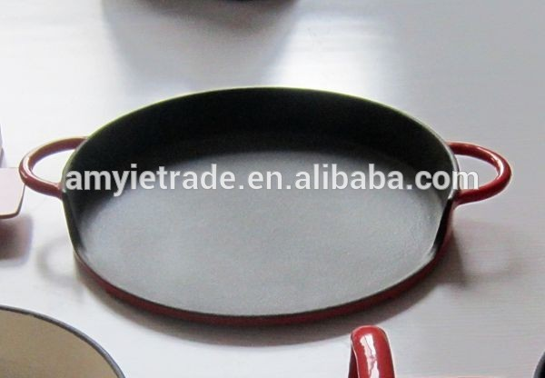 round cast iron flat griddle pan