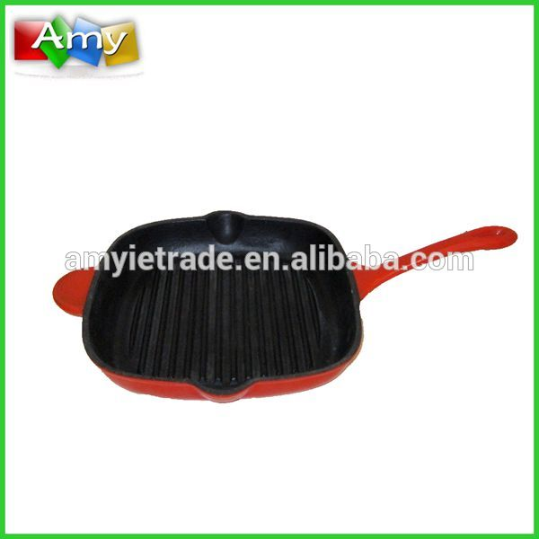 Enameled Cast Iron Grill Pan, Cast Iron Pan