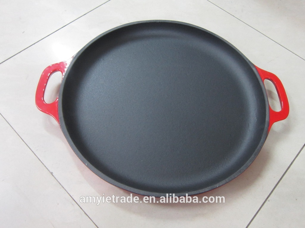 CAST IRON FRY PAN, CAST IRON ENAMELD FRY PAN, CAST IRON SKILLET