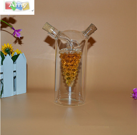 Soft Cork Clear Transparent Glass Cooking Oil Bottle Sauce Pot