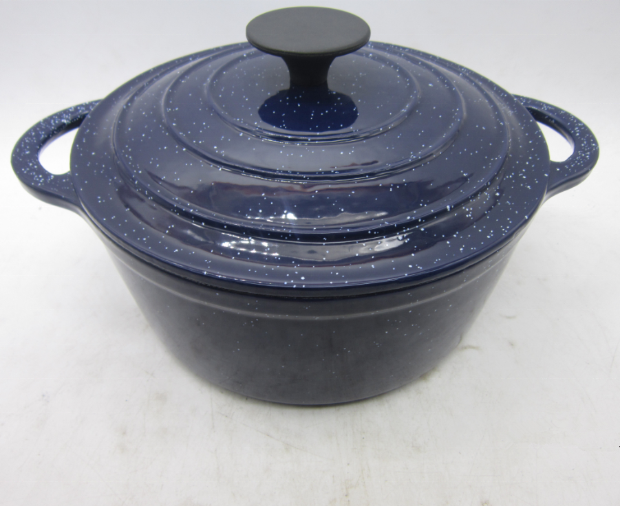 FDA Certified Enameled Cast Iron Casserole Ceramic Coating Pot Enameled Cast Iron Wok